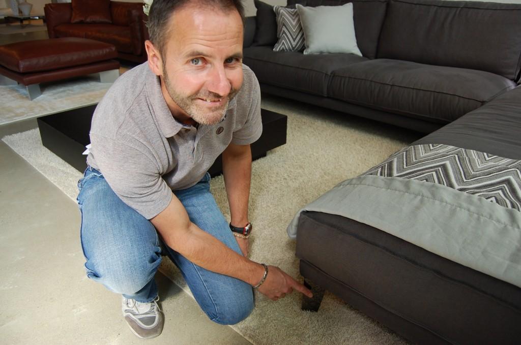 Carlo and the Time Break Sofa