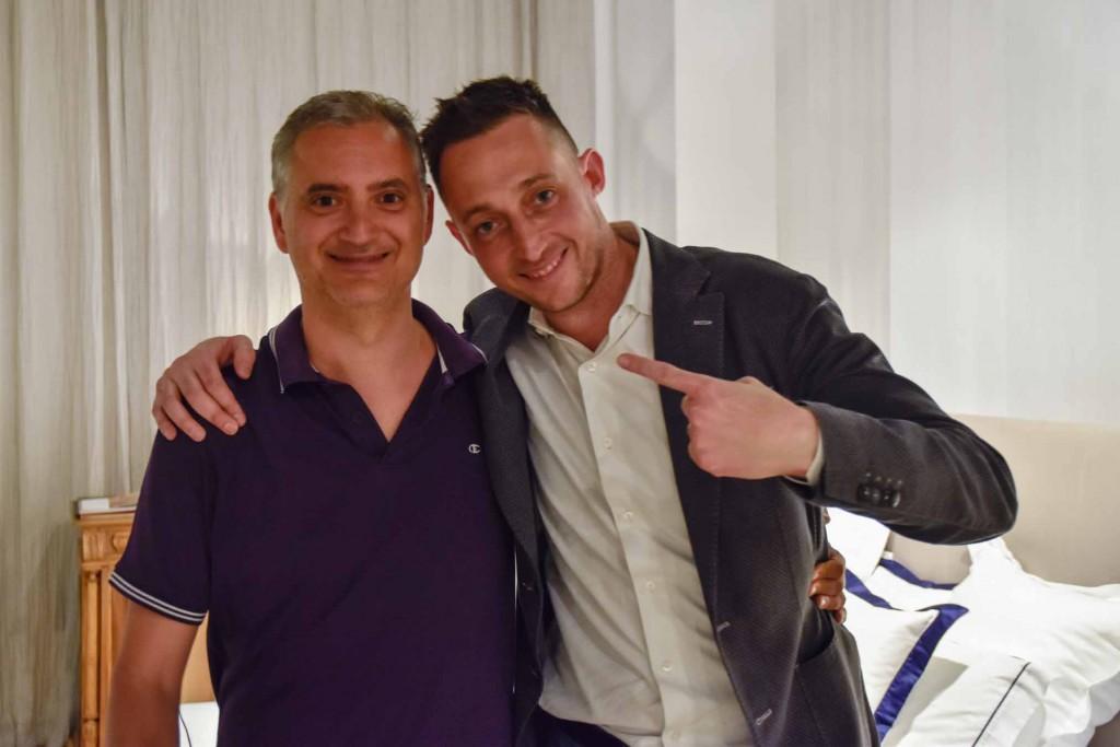 Paolo Ferrara and Filippo Berto divanoXmanagua