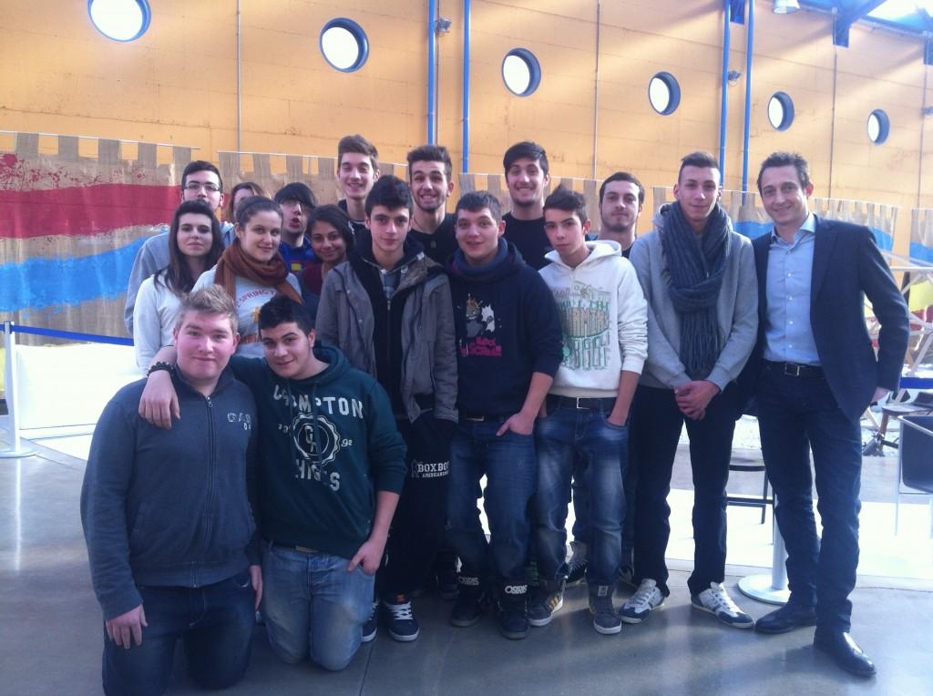 Terragni's students with Filippo Berto