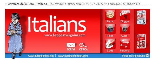 Beppe Sevegnini's blog Italians: project divanoXmanagua