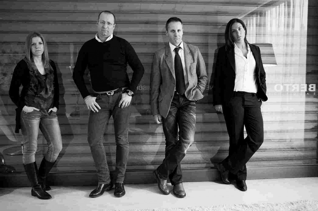Emilia, Maurizio, Carlo, Arianna. BertO's interior designers