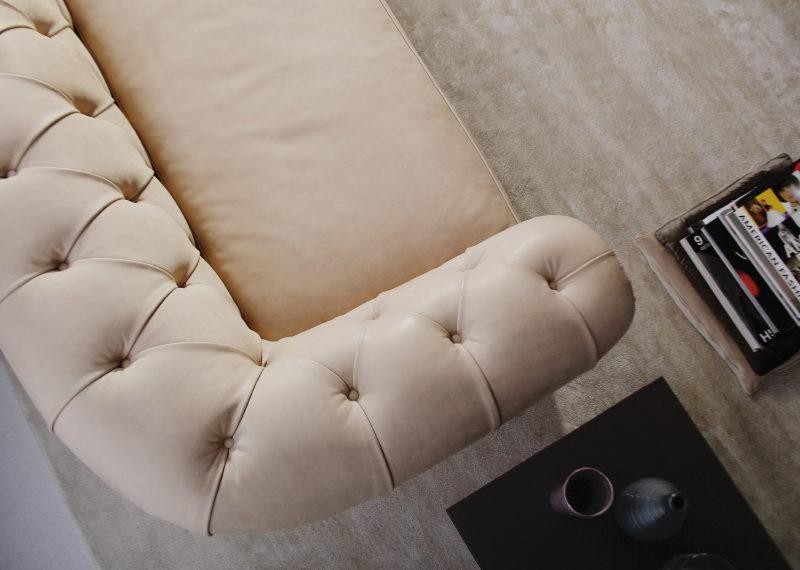 Boston chesterfield leather sofa