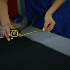 STITCHING DONE BY - Matelda Bedendi TAKING MEASUREMENTS OF THE BASE BEFORE SEWING THE LINING