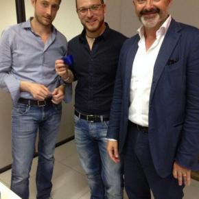 Filippo Berto, Stefano Micelli e Luca Carbonelli at Tradate Faberlab