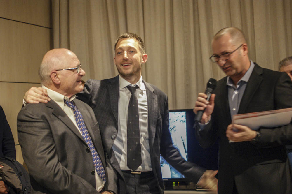 Carlo e Filippo Berto con Maurizio Riva - 40 years party