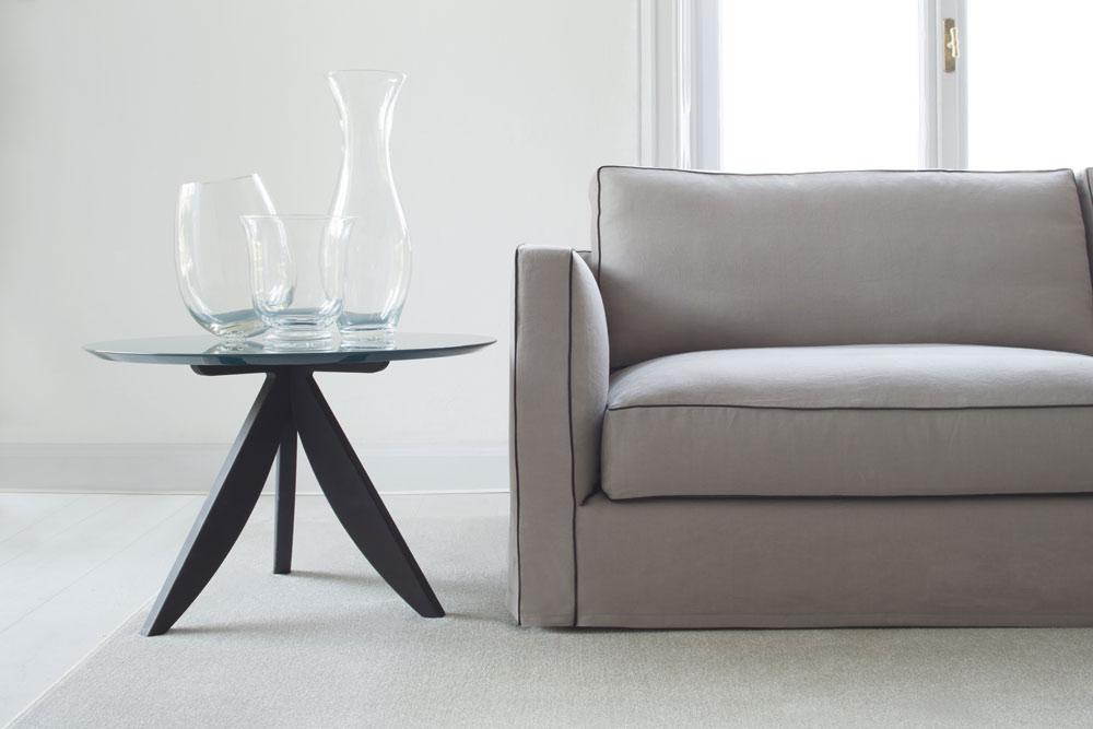 Danton linen sofa and coffee table Circus
