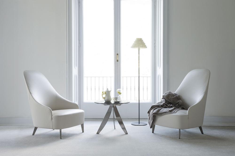 vanessa high-back armchair