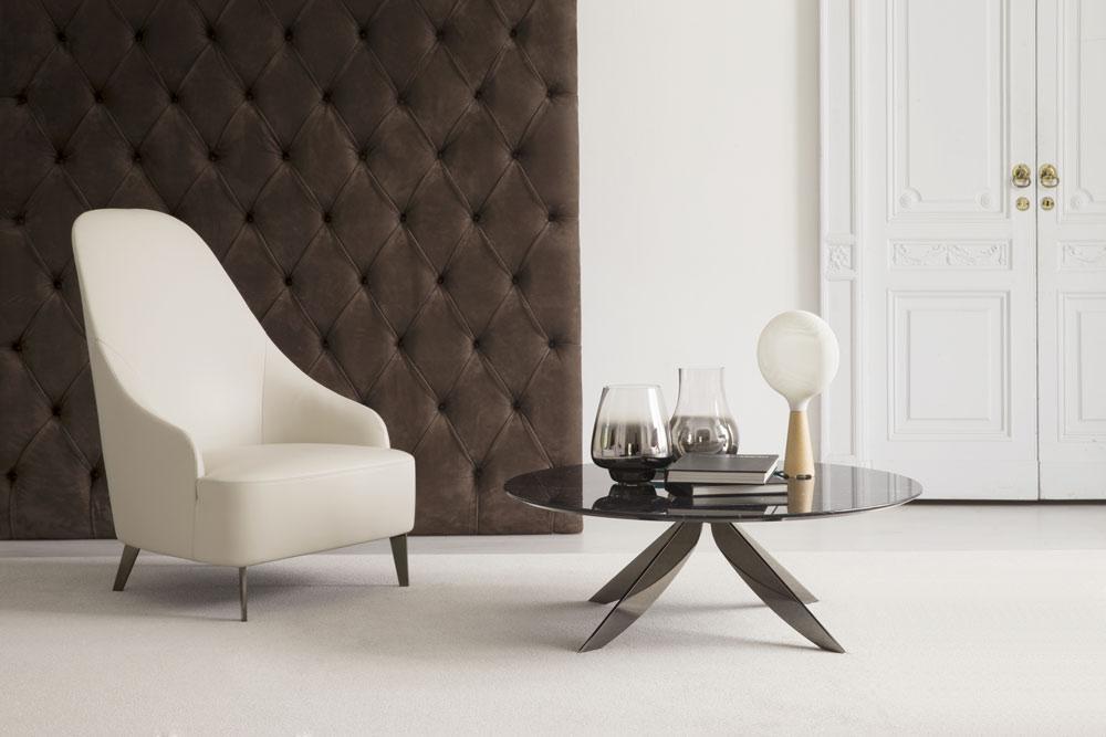 vanessa leather armchair