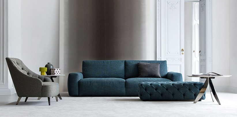 johnny sofa with one-piece frame