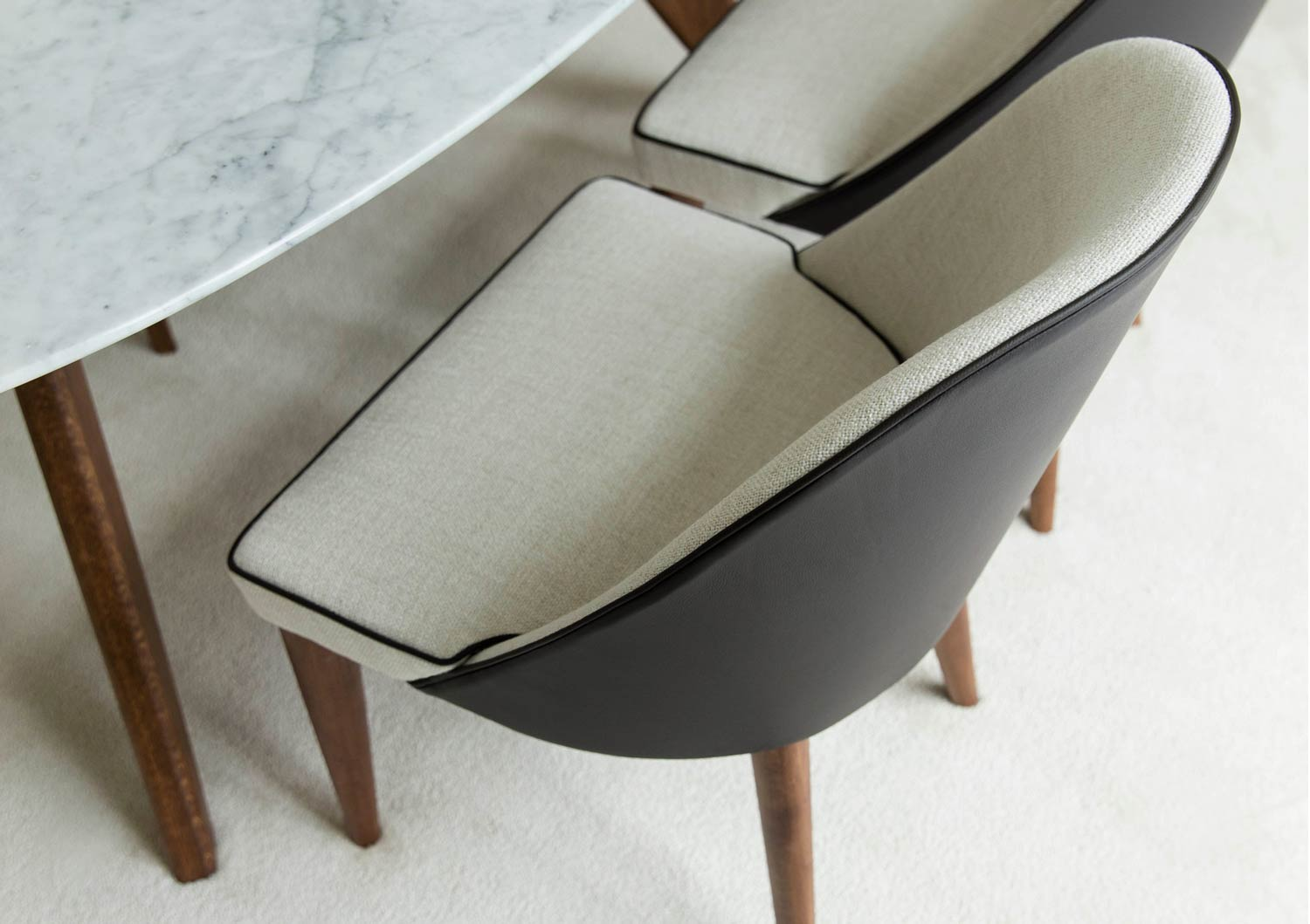 Judy chair leather fabric cover