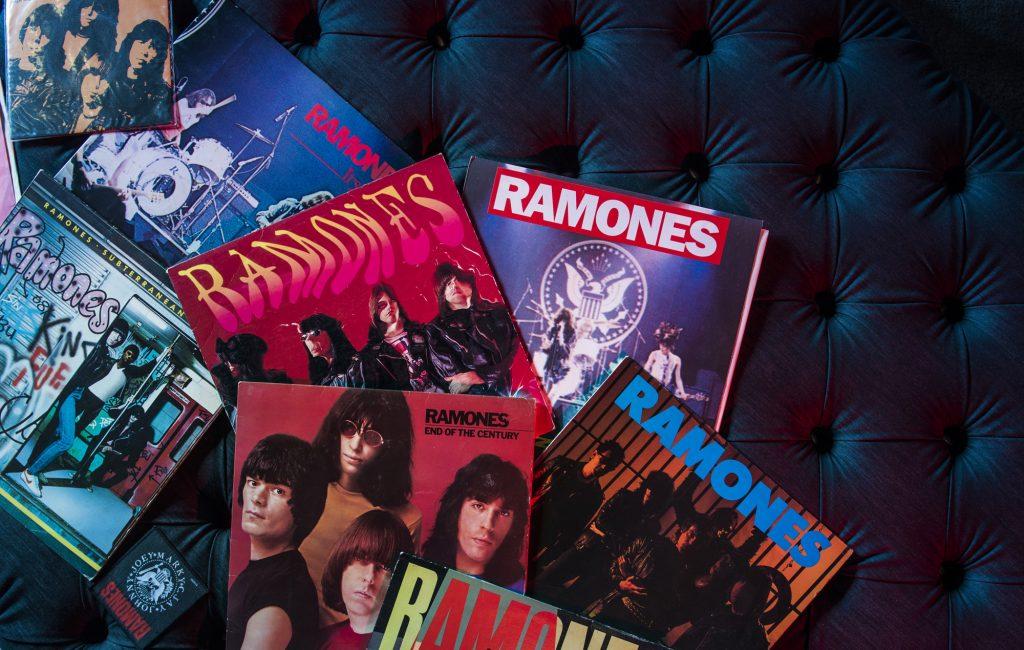 #BertoLive Ramones vinyl record collection