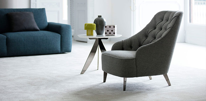 Emilia Capitonné Armchair BertO furniture collection
