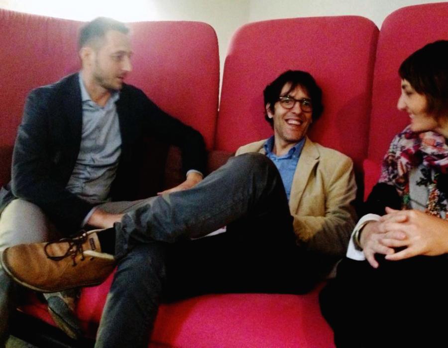 Stefano Schiavo sitting on the #sofa4manhattan