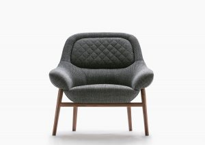 Hanna armchair solid wooden frame