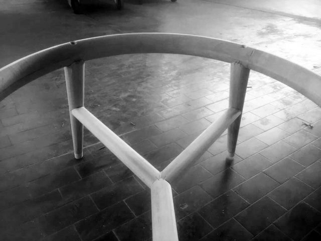 Prototipo struttura poltrona Hanna