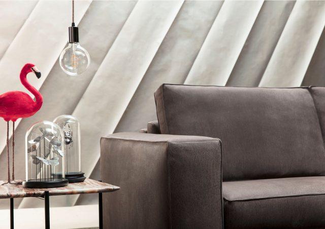 nemo sofa bed in nabuk leather brown