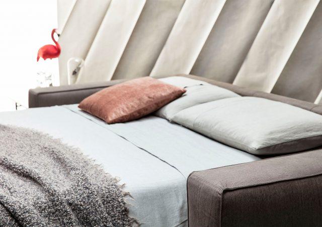 nemo double bed sofa in leather berto salotti