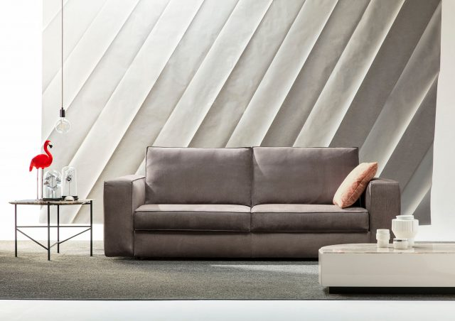 Nemo nabuk leather sofa bed made to measure
