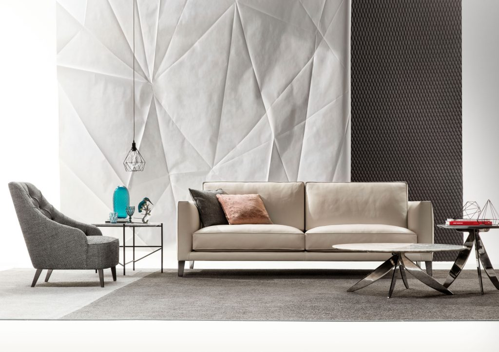 Time Break leather sofa by BertO