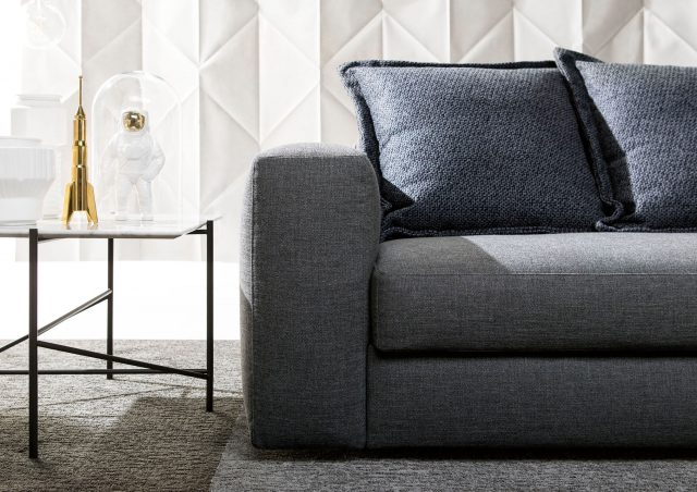 Passepartout sofa bed upholstered in fabric