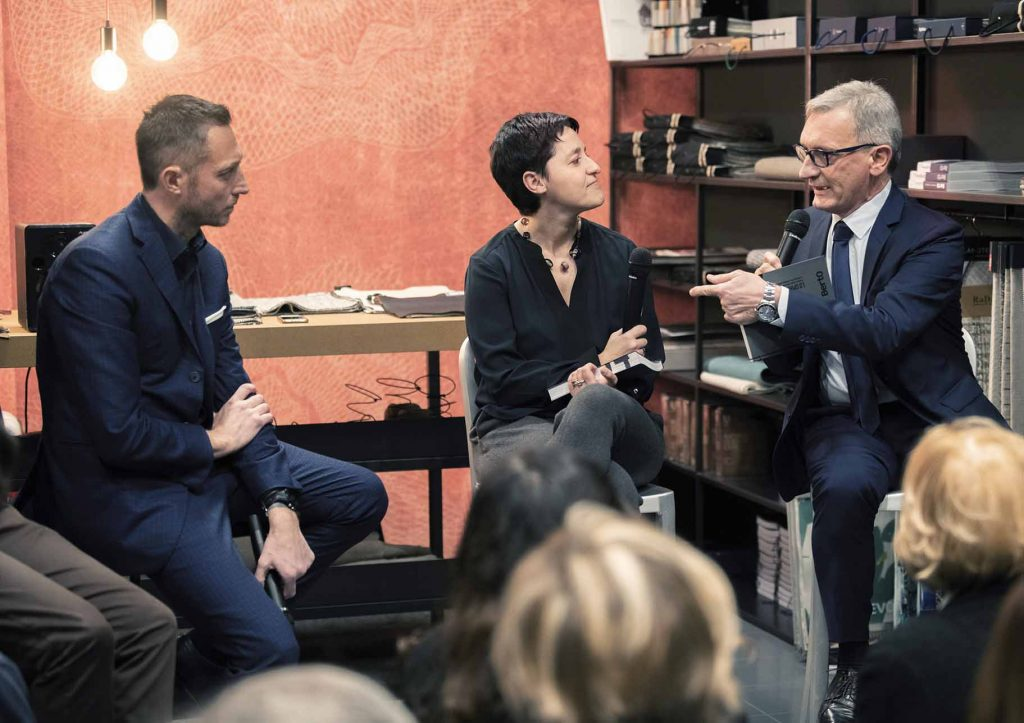 Presentation of the book The Spirit of 74 in the BertO showroom in Brescia.