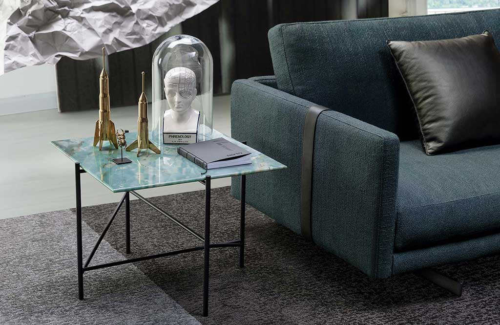 Dee Dee Sofa and Riff Coffee Table by BertO