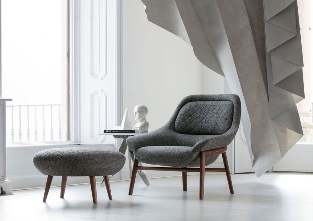 Hanna armchair, made in Meda