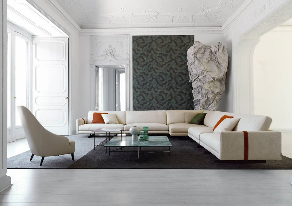 Berto Salotti Beige sofa and armchair