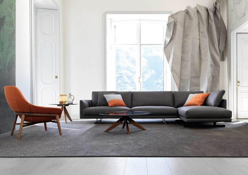 Dee Dee sofa in full grain leather by BertO the Dream Design Made in Meda