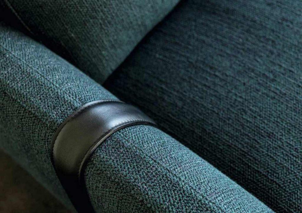 Dee Dee sofa in blue fabric by BertO
