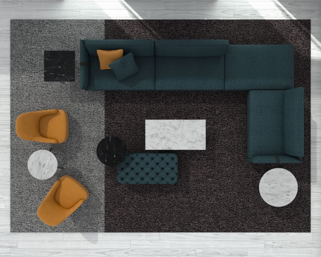 Dee Dee designer sofa by BertO with accessories from the BertO 2021 Collection
