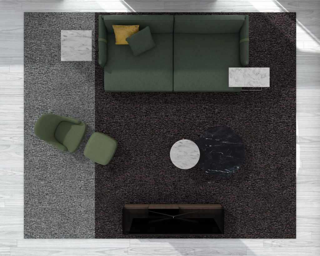 Dee Dee deep sofa by BertO with accessories from the BertO 2021 Collection