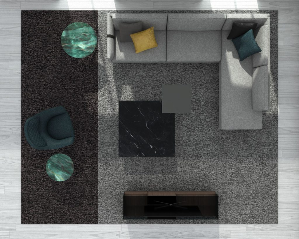 Dee Dee modern sofa by BertO with accessories from the BertO 2021 Collection