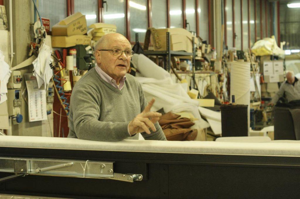 Giorgio Berto in the workshop