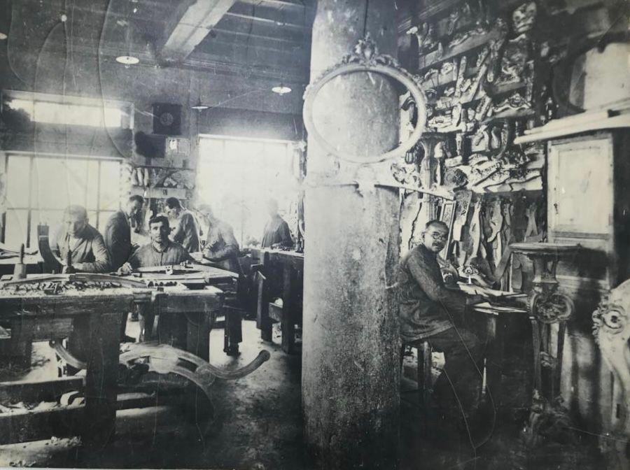 The historical Boga workshop, winner of a gold medal for wood-carving